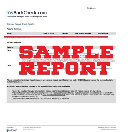 MyBackCheck to get OMVIC Licence