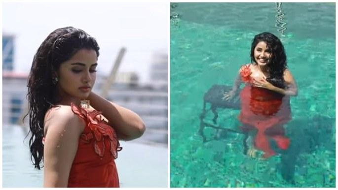 സ്വിമിങ് പൂളില് നിന്നും അനുപമ പരമേശ്വരന്റെ ഗ്ലാമറസ് ഫോട്ടോഷൂട്ട് | Anupama  Parameswaran Swimming Pool Photo Shoot Video - Malayalam Filmibeat