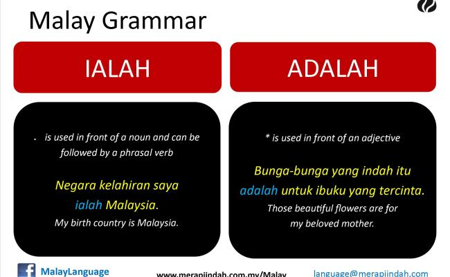 Tatabahasa Ialah Dan Adalah Malay Language And Culture