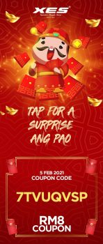 Kasut XES PERCUMA Terhad RM8 kupon Ang Pao