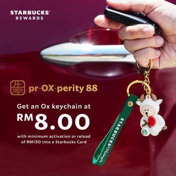 Rantai kunci Starbucks ox-picious dengan harga RM8 sahaja
