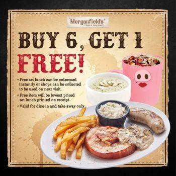 Promosi Morganfield's Buy 6 Percuma 1 Makan tengah hari yang lengkap