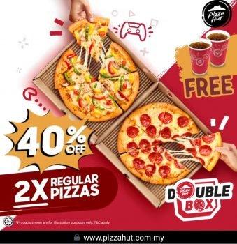 Pizza Hut diskaun 40% untuk Double Box dari HANYA RM32.70