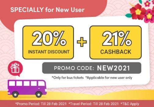 EasyBook Diskaun hingga 41% untuk tiket bas khas untuk pengguna Baru