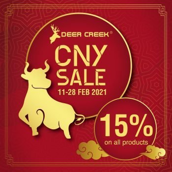 CNY Deer Creek Jimat KAW KAW Diskaun 15%
