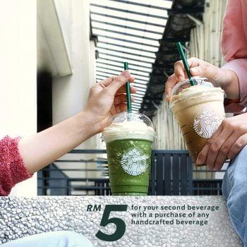 Minuman Piala Kedua Starbucks dengan harga RM5