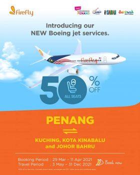 Firefly Airline Fly From Penang dengan Diskaun 50%