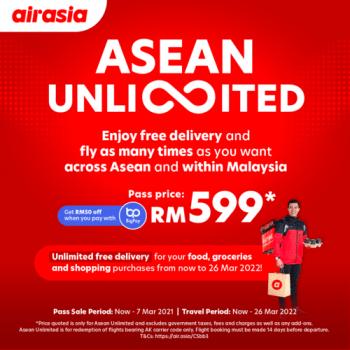 Promo Penghantaran Percuma & Penerbangan Tanpa Had AirAsia