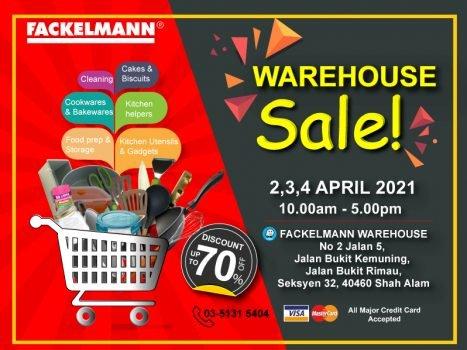 Jualan Gudang Fackelmann 2-4 April 2021
