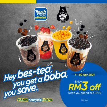 Boba Tea House Diskaun RM3 Tambahan dengan Touch 'n Go eWallet