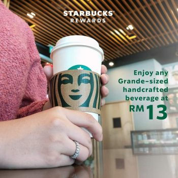 Minuman buatan tangan bersaiz Starbucks Grande Promo Hari Ahli April RM13