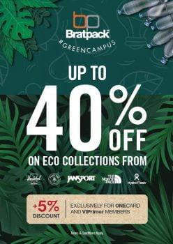 BratPack mendapat potongan 40% + 10% dari koleksi eko
