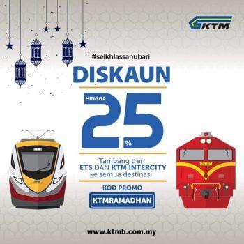 KTM Tiket Tambahan 25% Diskaun Kod Promosi
