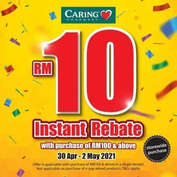 Promo Rebat Segera RM10 Farmasi Caring