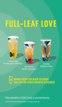 Minuman Musim Panas Starbucks Tan-tea-lisingly
