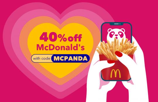 Voucher Diskaun 40% untuk McDonald's X FoodPanda