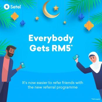 Setel Kredit RM5 Percuma untuk anda & keluarga + rakan anda