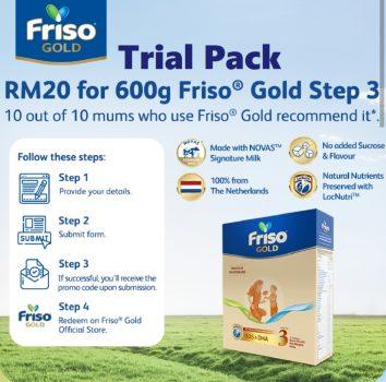 Friso Gold Step 3 600g Dengan Harga RM20 sahaja