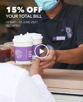 Biji Kopi & Daun Teh Jumlah Bil Diskaun 15%