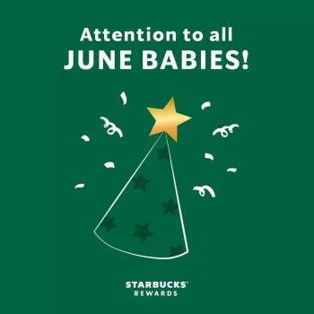 Starbucks sepotong kek PERCUMA untuk bayi bulan Jun