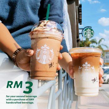 Minuman kedua Starbucks dengan harga RM3 sahaja