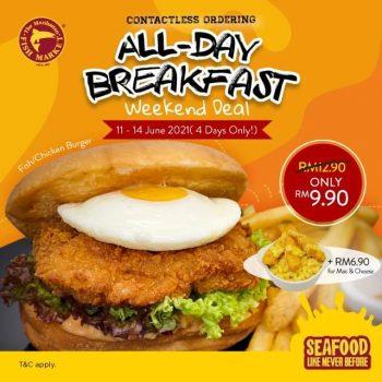 Burger Ayam / Ikan Manhattan dengan harga hanya RM9.90