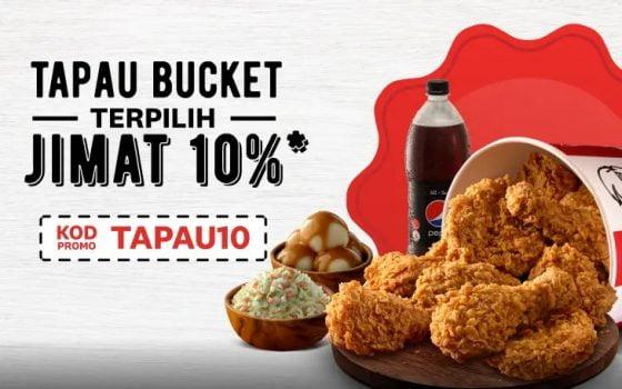 KFC Extra 10% Diskaun untuk Kod Promosi Istimewa
