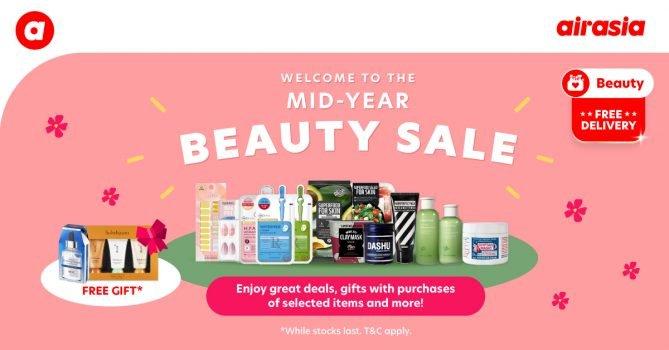 Jualan Pertengahan Tahun Airasia Beauty - Hadiah Percuma dengan Pembelian