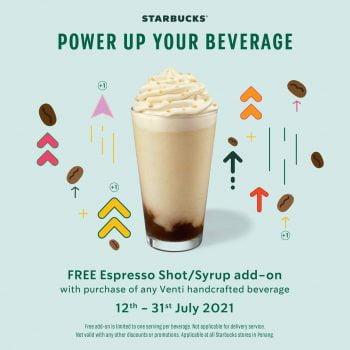 Starbucks Penang Outlets Percuma tambahan Espresso Shot / Syrup