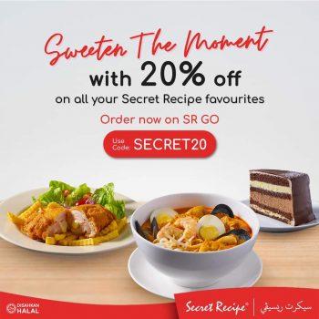 Hidangan Secret Recipe Diskaun 20% Diskaun
