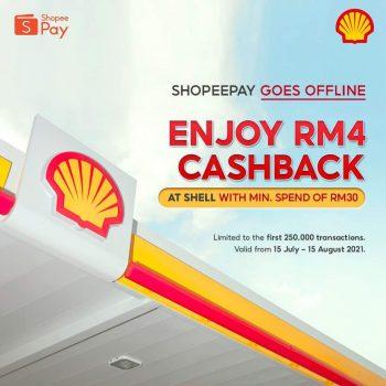 Shell x ShopeePay Pulangan Tunai RM4 Percuma