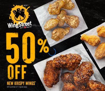 Promosi Pizza Hut Krispy Wings BARU Diskaun 50%