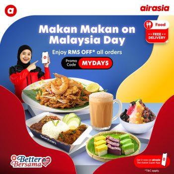Hari Airasia Food Malaysia diskaun RM5 + Kod Promo Penghantaran Percuma