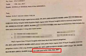Surat Cerai Archives Malaysiagazette