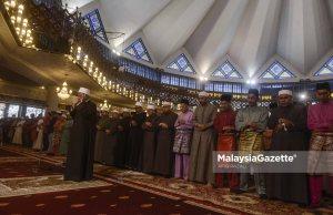 Perdana Menteri, Tun Mahathir Mohamad hadir menunaikan solat sunat Hari Raya Aidiladha di Masjid Negara, Kuala Lumpur. foto AFIQ RAZALI, 22 OGOS 2018.