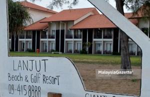 Blok bangunan yang menempatkan bilik penginapan di Lanjut Beach & Golf Resort Rompin, Pahang. foto IQBAL BASRI, 17 OKTOBER 2018.