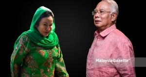 Bekas Perdana Menteri, Datuk Seri Najib Tun Razak dan Isteri Datin Seri Rosmah Mansor. foto MALAYSIAGAZETTE