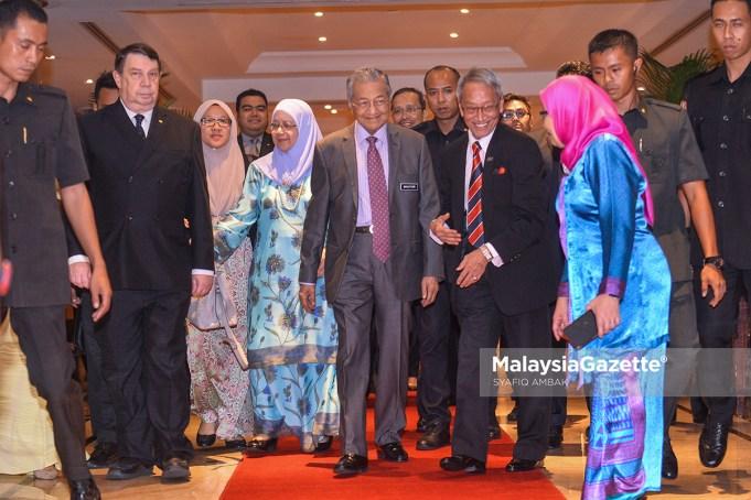 Perdana Menteri, Tun Dr. Mahathir Mohamad hadir pada majlis Persidangan dan Pengumuman Akademik Sains Malaysia di Sunway Putra Hotel, Kuala Lumpur. foto SYAFIQ AMBAK, 01 NOVEMBER 2018.