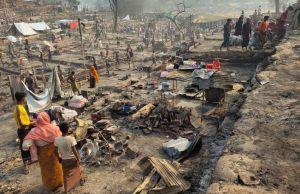 Cox Bazaar Roningya refugee camp fire Bangladesh