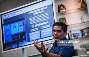 Aildilfitri holidays Senior Minister of Education, Datuk Dr. Radzi Jidin. PIX: HAZROL ZAINAL / MalaysiaGazette / 04 MARCH 2021. PdPR home-based teaching and learning