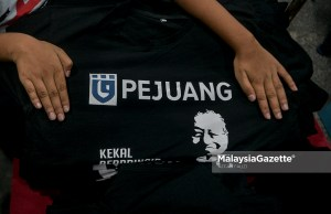 (Picture for representational purposes only). The t-shirt of Parti Pejuang Tanah Air (PEJUANG) with the picture of its Chairman, Tun Dr Mahathir Mohamad. PIX: MalaysiaGazette opposition DAP Teo Nie Ching Prime Minister