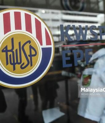 National Trust Fund Logo Kumpulan Wang Simpanan Pekerja (KWSP). PIX: MOHD ADZLAN / MalaysiaGazette / DECEMBER 2020. Employees Provident Fund EPF KWAN Kumpulan Wang Amanah Nasional Covid-19