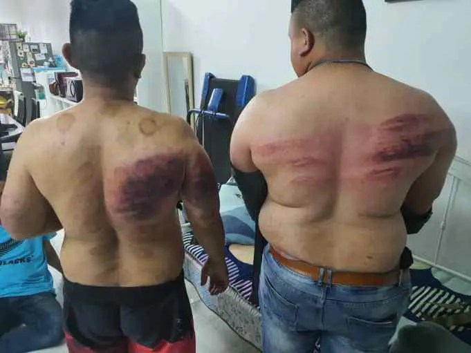 Two bodyguards sustained injuries after being assaulted by their employer for fasting.