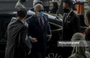 Former Prime Minister, Datuk Seri Najib Tun Razak arrives at the Kuala Lumpur Courts Complex for his 1Malaysia Development Berhad (1MDB) corruption trial. PIX: AFFAN FAUZI / MalaysiaGazette / 27 MAY 2021. misappropriation of RM2.28 billion 1MDB