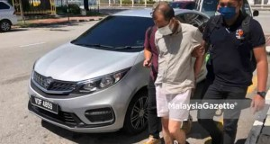 ran over The suspect who hit and killed a senior citizen while attempting to flee from the police inspection is remanded at the Penang Magistrate Court today.