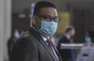 Former UMNO Supreme Council Member, Datuk Lokman Adam at the Kuala Lumpur Courts Complex. PIX : AFFAN FAUZI / MalaysiaGazette / 23 JULY 2020 contempt of court intimidating threatening 1MDB witness Amhari Effendi Nazaruddin, who is also the former special officer to Najib.