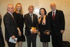 YIVO Dr Brent with Mr Harry Bajraktary, Lisa Milicaj, Mal and Donika Berisha