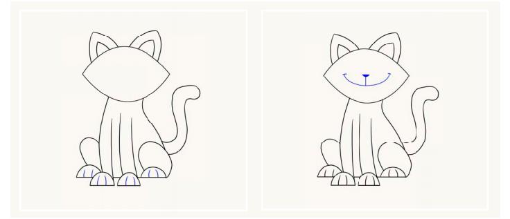 Hogyan kell rajzolni egy macskát