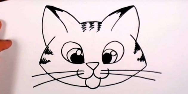 Comment dessiner le museau de chat en style cartoon
