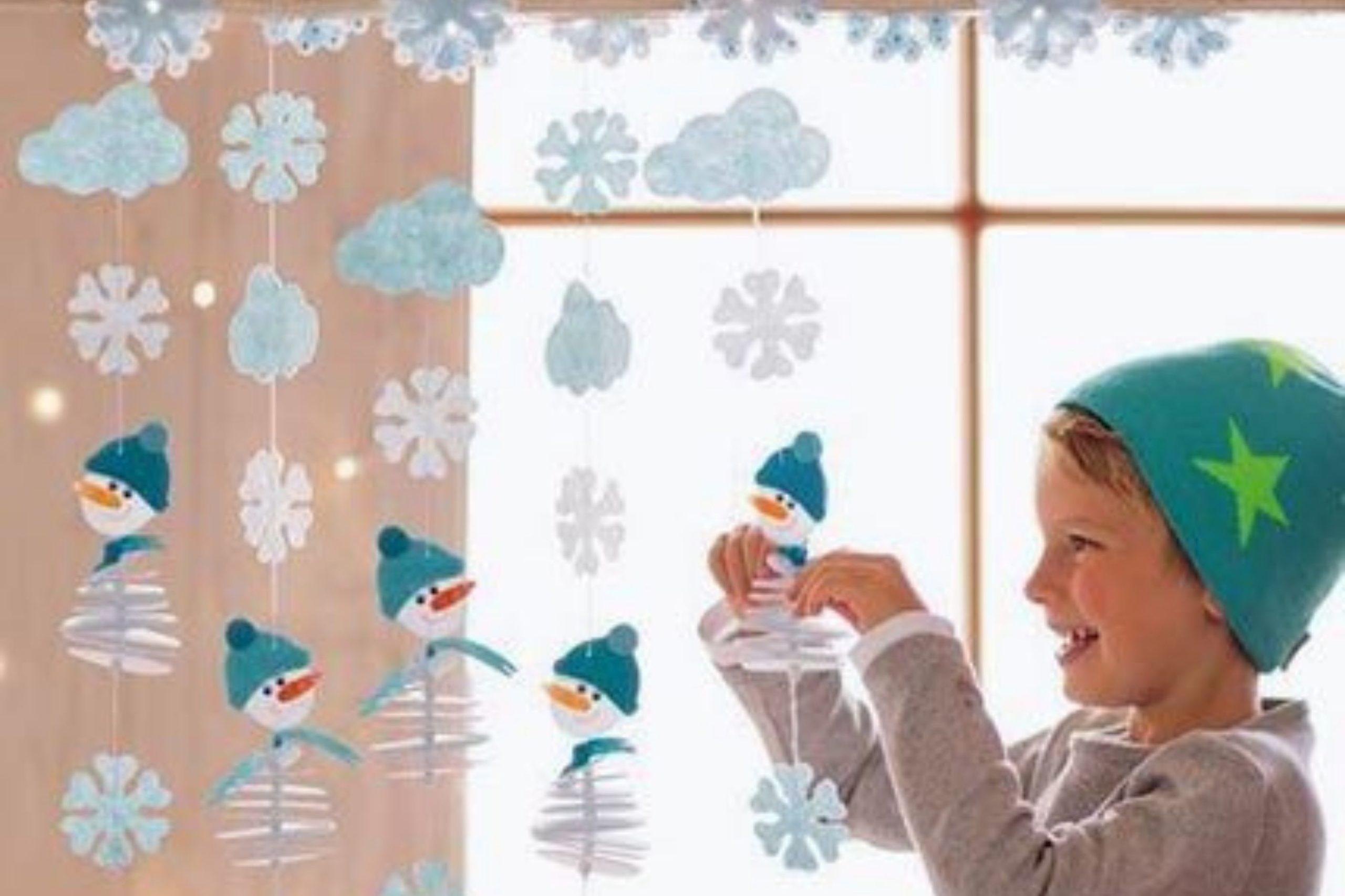 Girlande aus Schneeflocken